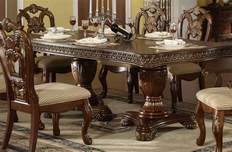 Marble Dining Room Set double pedestal dining set traditional dining sets