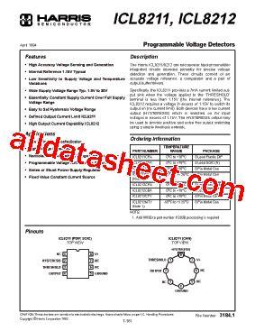 transistor a970 data sheet pdf icl8211 datasheet pdf harris corporation
