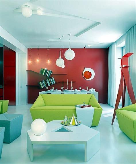 bright colour interior design modern living room design bright contrasting colors
