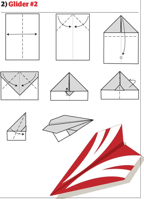 How To Make A Glider Paper Airplane Step By Step - paper airplane patterns 171 free patterns