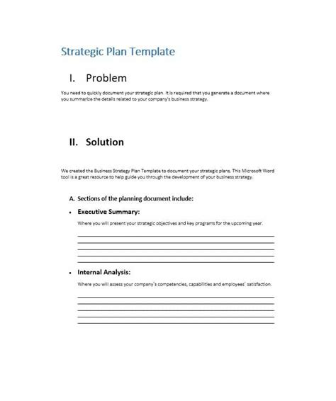 32 Great Strategic Plan Templates To Grow Your Business Company Strategic Plan Template