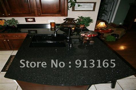 Black Granite Countertops Price Black Galaxy Granite Countertop Half Bullnose