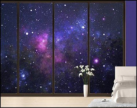 Jameela Outer sun moon wall decals outer space wall murals
