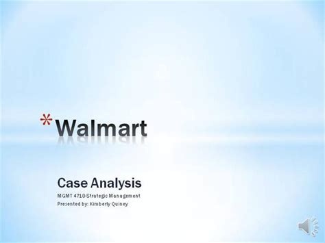 Walmart Case Kquiney Mgmt4710 Authorstream Walmart Powerpoint Template