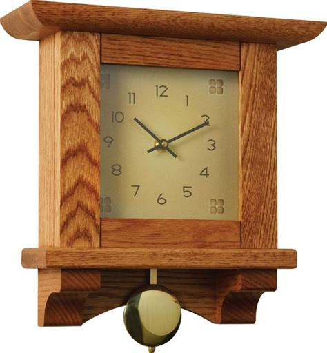 woodworking clocks woodsmith plans arts and crafts mantle clock
