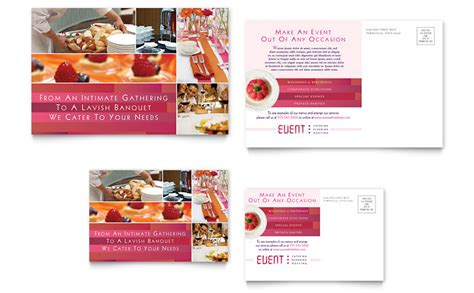 Corporate Event Planner & Caterer Postcard Template   Word