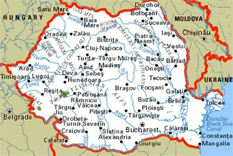 map of romania romania cities maps