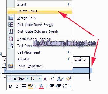 cara membuat watermark di ms word 2003 cara menghapus atau delete kolom atau baris tabel di ms