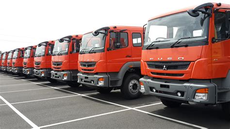 India Made Fuso Trucks Shipped To Indonesia