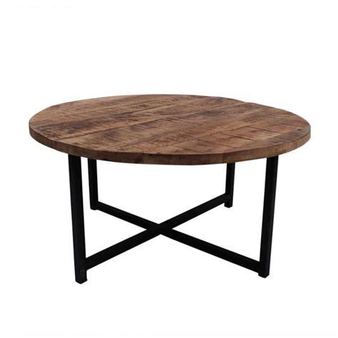 ronde salontafel 80cm meubeltop salontafel rond industrieel dia 80cm van