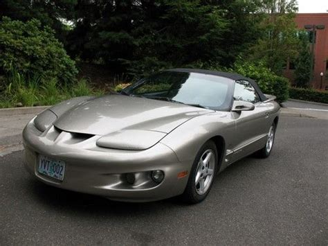 manual cars for sale 2001 pontiac firebird seat position control sell used 2001 pontiac firebird base convertible 2 door 3 8l in portland oregon united states