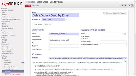 Mayur Maheshwari Techno Functional Consultant Odoo Openerp Send Mail In Openerp With Mail Dynamic Html Email Templates