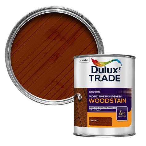 Dulux Trade Walnut Satin Woodstain 1L   Departments   DIY