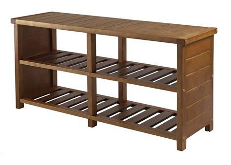 buy elegant brown compact keystone teak shoe bench by
