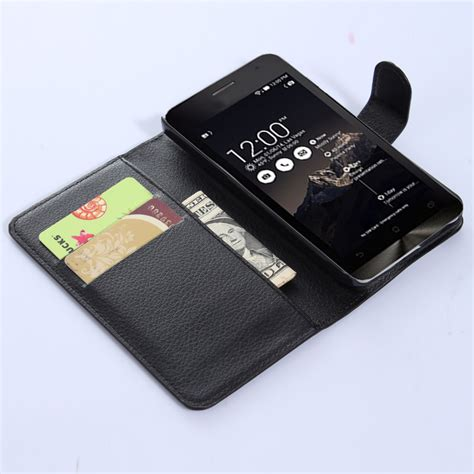 Casing Dompet Kulit Leather Wallet For Asus Zenfone 6 T0210 2 leather wallet for asus zenfone 4 black