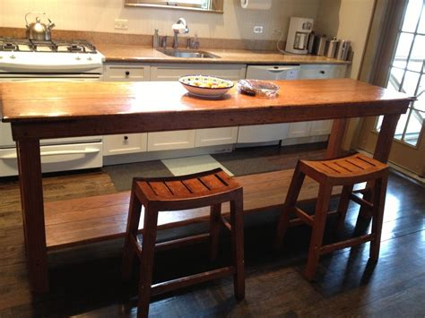handmade rustic kitchen table by fearons woodworking