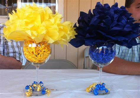 Blue And Gold Graduation Decorations ffa banquet style ffa banquet blue gold