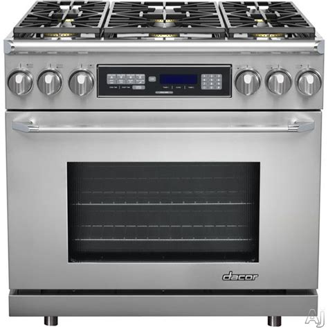 Oven Gas Digital dacor er36d 36 quot freestanding dual fuel range with 4 6 cu