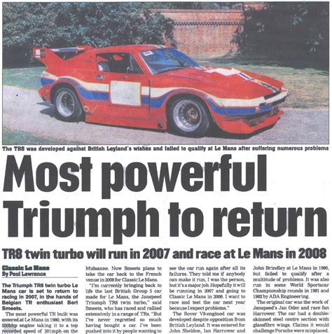 how to restore triumph tr7 8 enthusiast s restoration manual books tr8 le mans car in motor sport news triumph torque