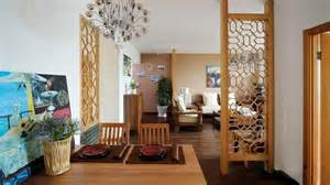 Japanese Style Window Treatments - sofa background wall and wooden partition picture interior design