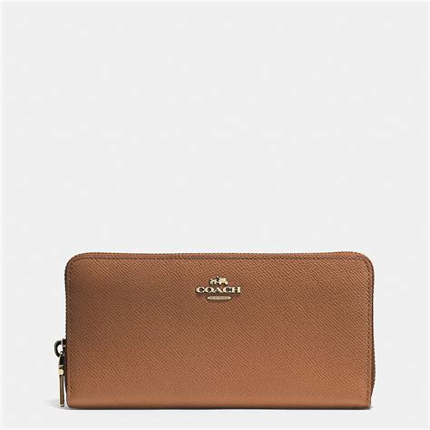 Coach Accordion Zip Wallet F13677 coach designer wallets accordion zip wallet in crossgrain leather
