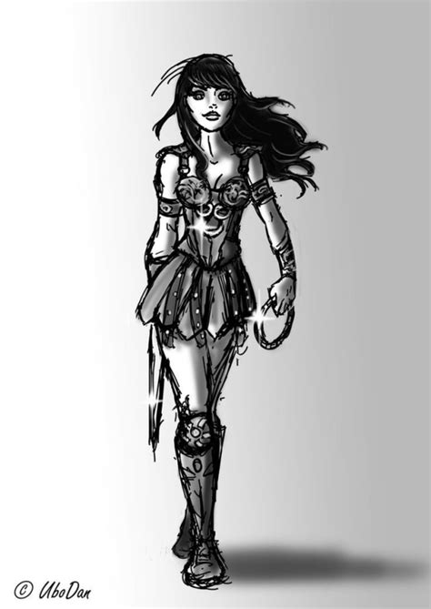 xena tattoo xena sketch by ubodan on deviantart