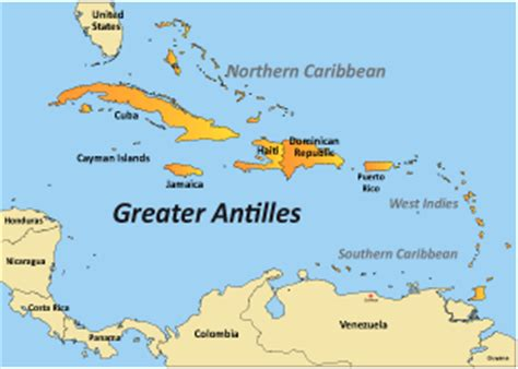 antilles islands map greater antilles holidays accommodation beautiful