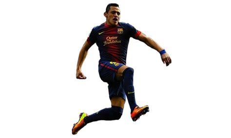 imagenes png de jugadores de futbol render de alexis sanchez en barcelona