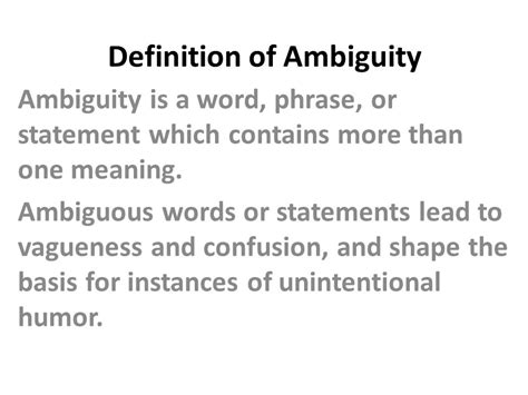 theme definition microsoft word definition of ambiguity ppt video online download