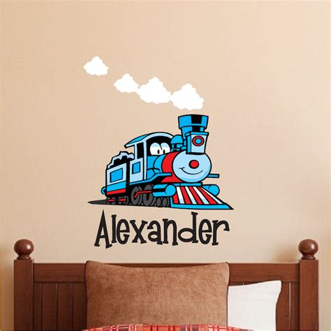 kids decals for bedroom walls custom train kids bedroom wall decal thomas the train