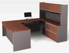 Shaped Desk Bestar Connexion U Shaped Desk And Hutch