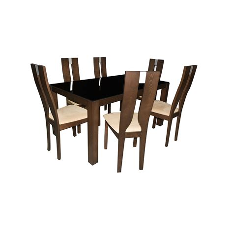 buy quot eros quot glass dining table 6 seater in india