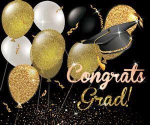 balloons congrats graduation party xft vinyl backdrops photo studio background ebay