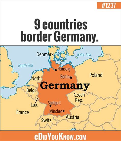 germany netherlands border map edidyouknow 9 countries border germany 1 denmark 2