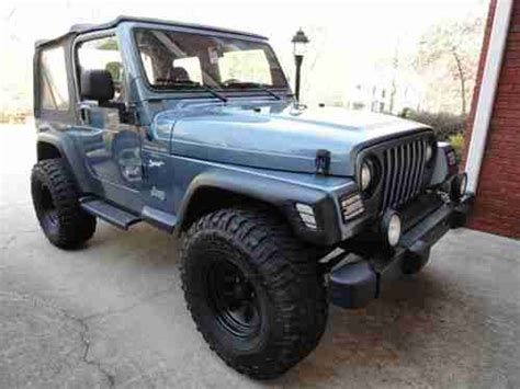 Powder Blue Jeep Wrangler Buy Used 1998 Jeep Wrangler Sport 4 X 4 Lifted 33 Quot Tires