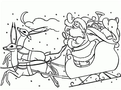 coloring pages reindeer and sleigh santa sleigh coloring pages coloring home