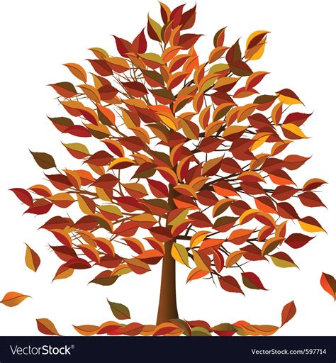 Autumn Tree Royalty Free Vector Image Vectorstock Ancestry Stock Images Royalty Free Images Vectors