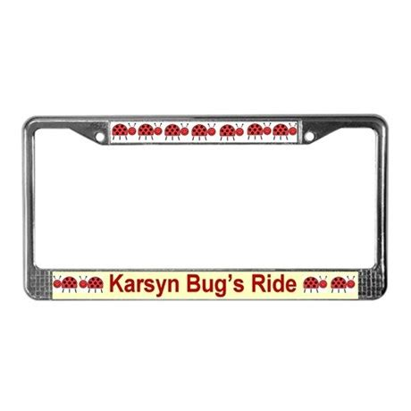 Vanity License Plate Frames personalized license plate frame ladybugs by itsmine