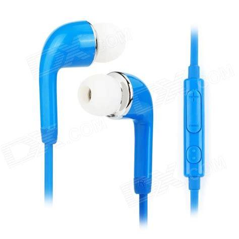 Earphone Samsung J5 j5 3 5mm in ear earphone w mic for samsung galaxy s5 blue free shipping dealextreme