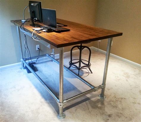 Diy Computer Desk Plans Home Sketch Of Standing Desk Showcases Creative Idea That Helps You Saving The Budget