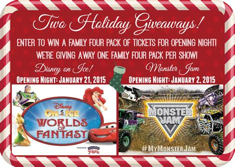 Disney Ticket Giveaway - disney on ice and monster jam ticket giveaway nh