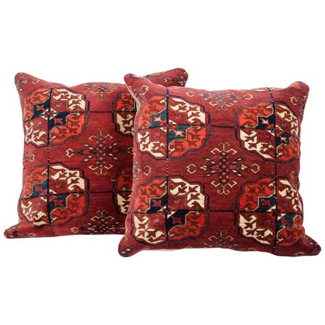 pillows made from rugs antique pillows made out of a 19th century turkmen tekke tribe rug fragment for sale at 1stdibs