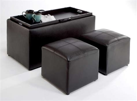 faux leather ottoman coffee table new seat bench chair coffee table 2 small storage