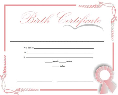 Birth Certificate Template Free by Birth Certificate Template 44 Free Word Pdf Psd