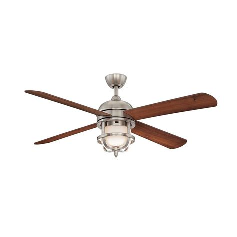 Nickel Ceiling Fans With Lights by Home Decorators Collection Senze Collection 52 Inches