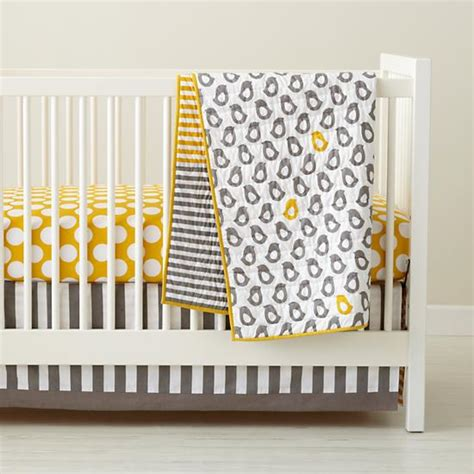 Yellow And White Crib Bedding Baby Crib Bedding Baby Grey Yellow Patterned Crib Bedding The Land Of Nod