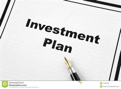 plan image investment plan stock image image of business investment