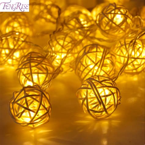 hallmark ornaments led light strings fengrise 20 rattan ball led string fairy lights christmas