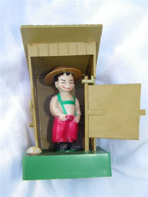 Pin Dan Gantungan Kunci Vintage vintage dan brechner co inc boy in outhouse water squirter boys water and toys