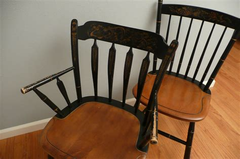 pair of vintage hitchcock chairs by meritagemart on etsy